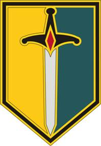 1st Maneuver Enhancement Brigade Combat Service ID Badges